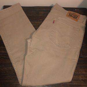 Men's 511 Levi's Khaki Jeans